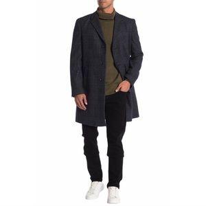 SALE 🔥 Tommy Hilfiger Notch Lapel Wool Blend Coat